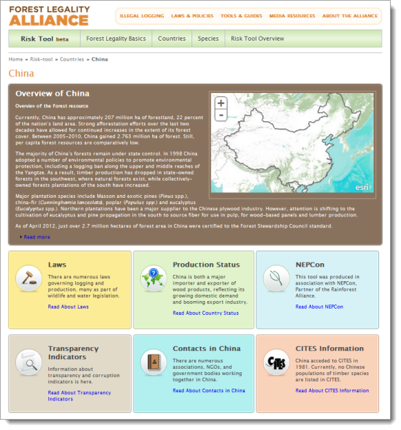 Forest Legality Alliance Risk Tool