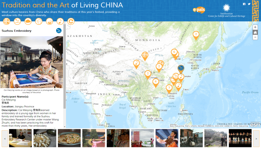 Tradition and the Art of Living China Story Map built by Blue Raster