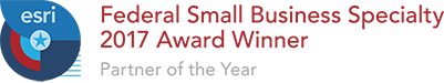 Esri Federal Small Business Specialty 2017 Award Winner