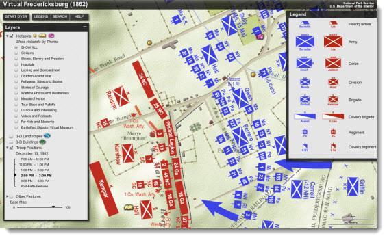 Fredericksburg Va Map >> National Parks - Fredericksburg Battlefield | Blue Raster