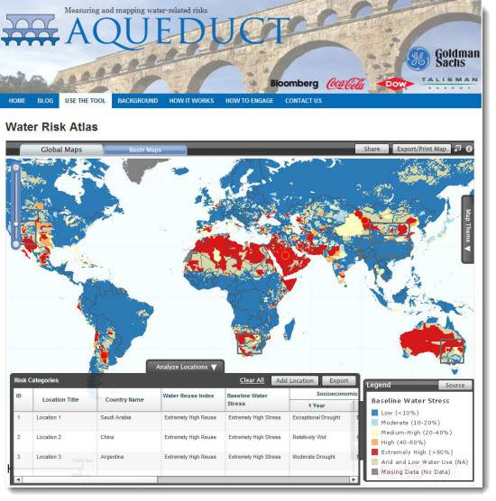 Aqueduct - The Water Risk Atlas