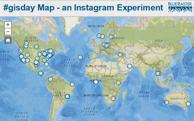 GIS Day Instagram Experiment