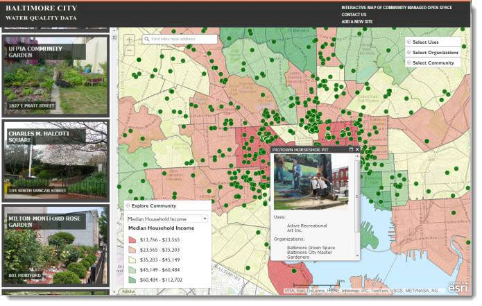 Interactive Map of Community Managed Open Space