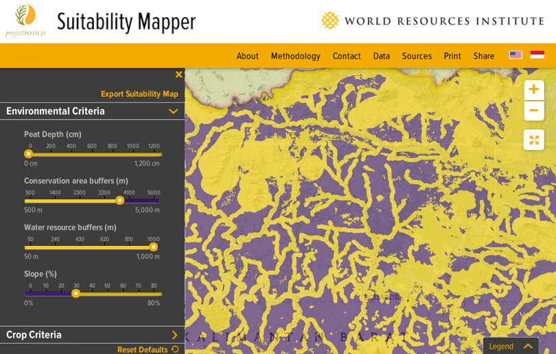 Suitability Map inside GFW Commodities