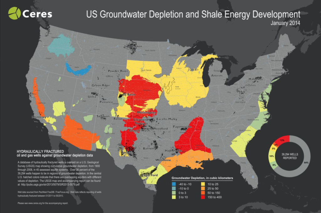 Ceres Drought Monitor Map and Shale Energy Development