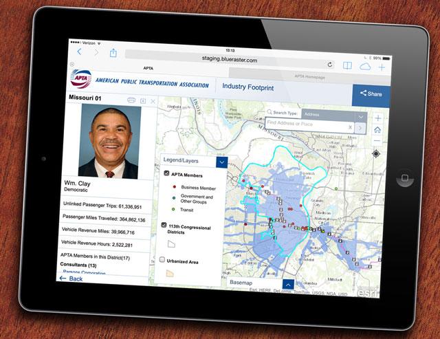 APTA Maps work on tablets