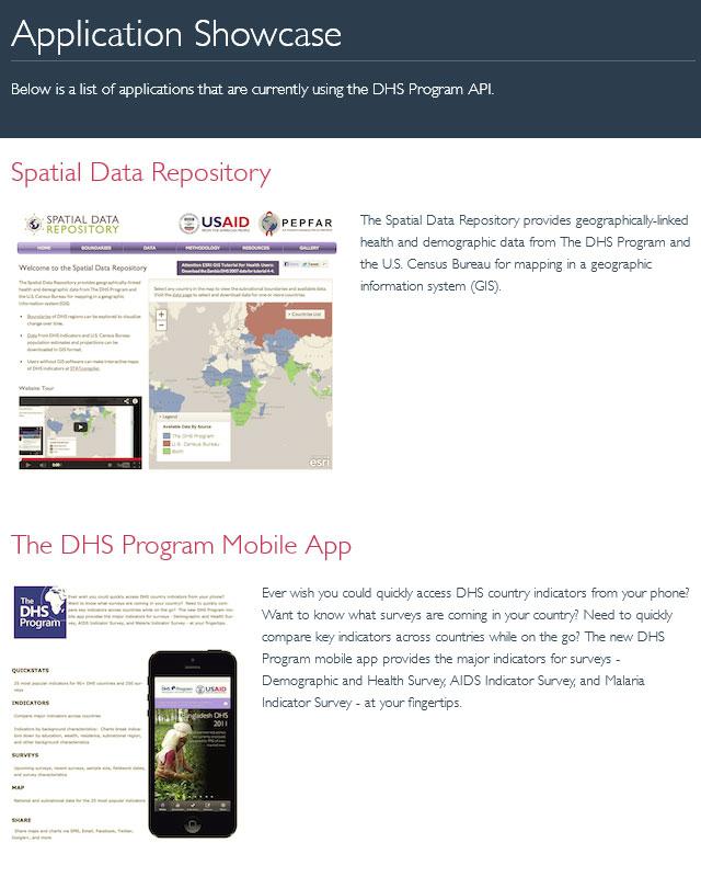 DHS Program API Application Showcase