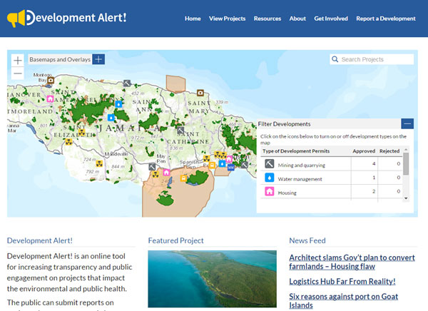 Development Alert Homepage