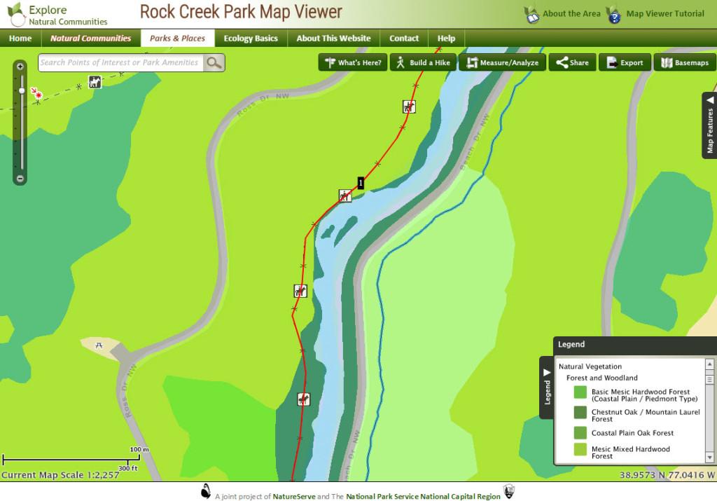 Rock Creek Park Map Viewer