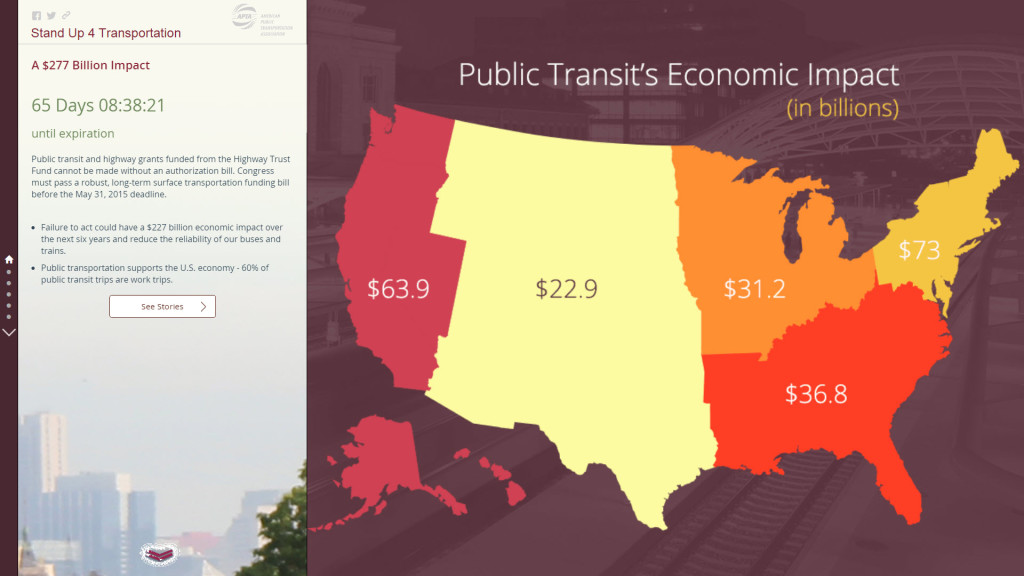 APTA Story Map - Stand Up 4 Transportation