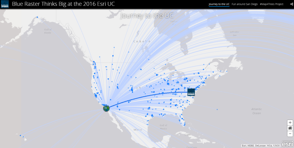 putting trees on the map adventures at the 2016 esri uc blue raster