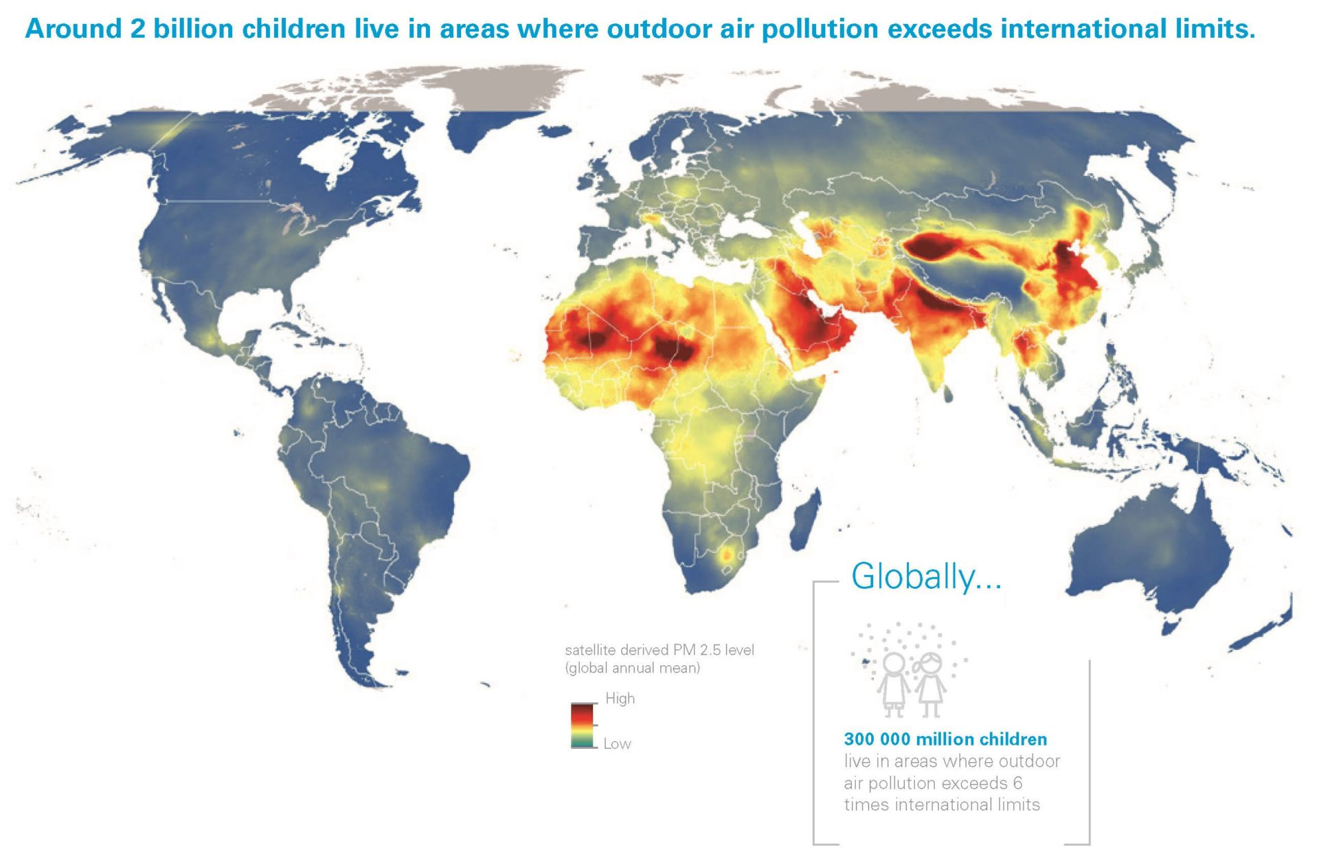Clear The Air For Children UNICEF Blue Raster - Air map us pollution