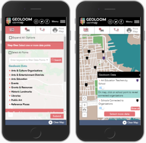 Geoloom is fully functional on Mobile Devices as well!