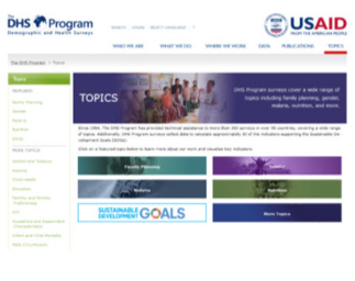 Dig deeper with new Topics pages from The DHS Program