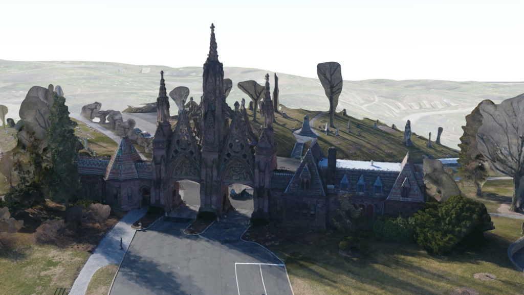 Drone 3D imagery of iconic entrance