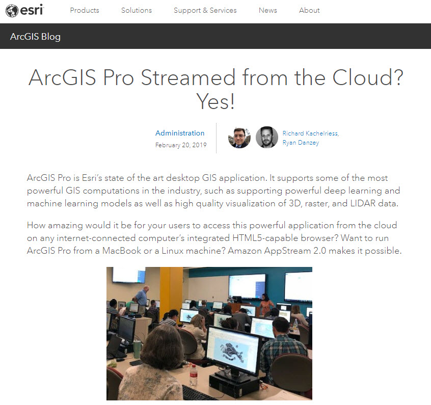 Esri ArcGIS Pro Cloud