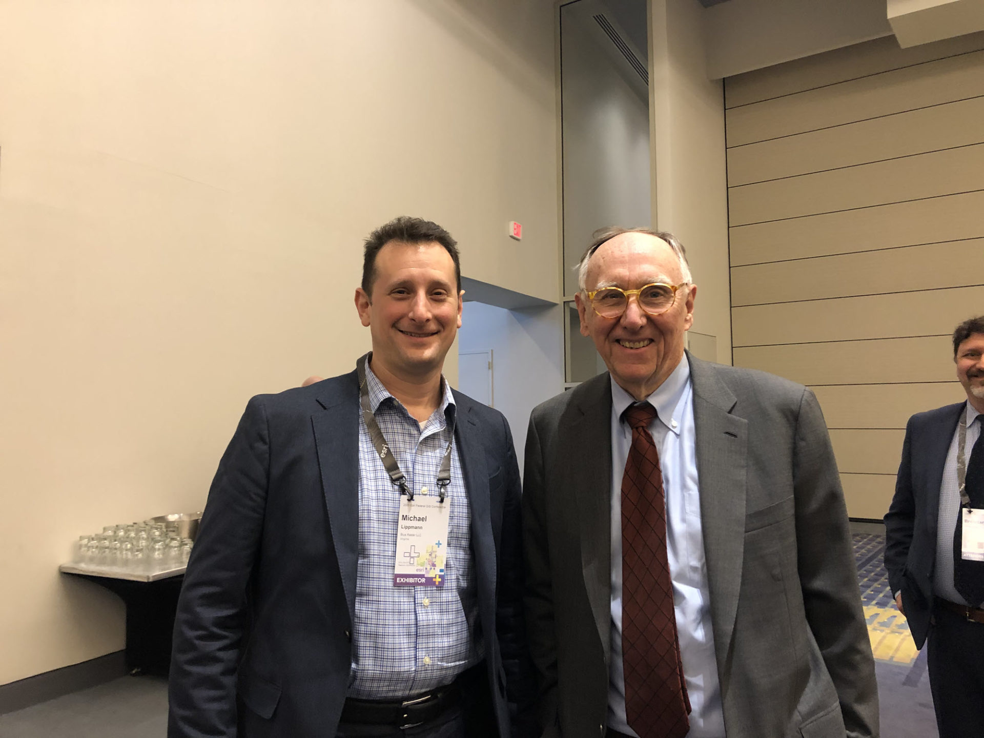 Michael Lippmann with Jack Dangermond