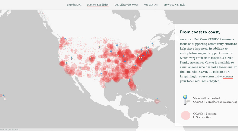 Red Cross StoryMap