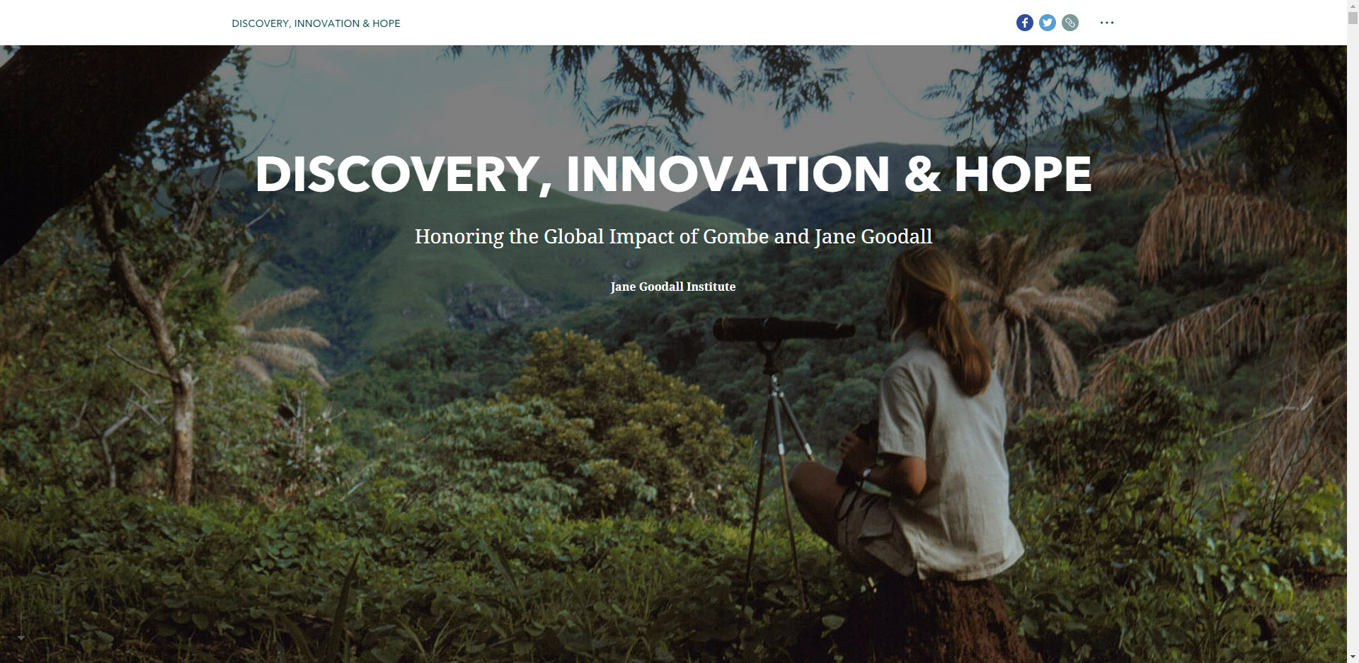 Jane Goodall Institute Story map