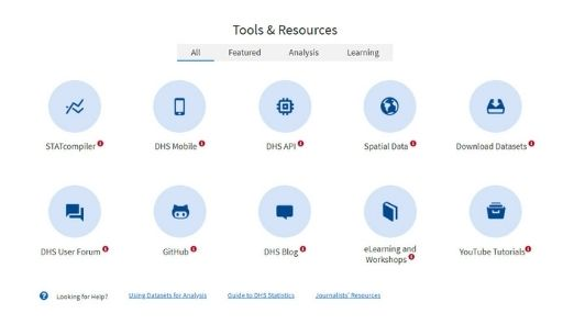 DHS website Tools